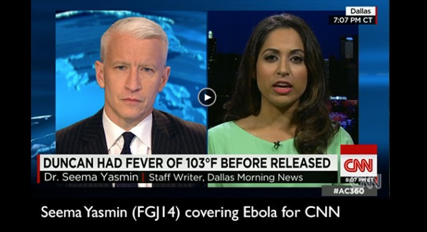 Seema Yasmin with Anderson Cooper