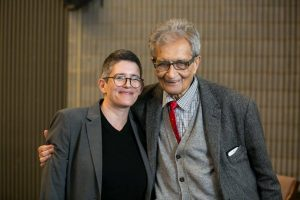 Prof Lisa Forman and Amartya Sen