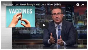Comedian John Oliver commented on anti-vaccine sentiment