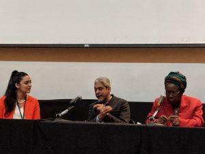 Left to right: Michelle Amri, Dr. Vikram Patel, Prof. Miriam Were
