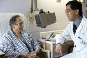 Jack Tu with patient at Sunnybrook