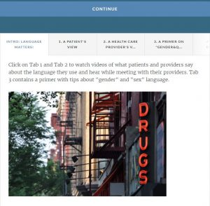 "A screenshot of a website, with a photo of a street and a sign that says ""DRUGS"""