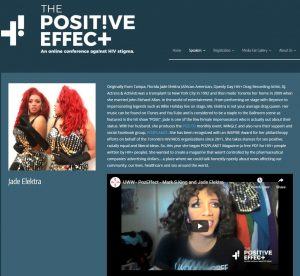 """A screenshot of the """"Positive Effect"""" webpage"""