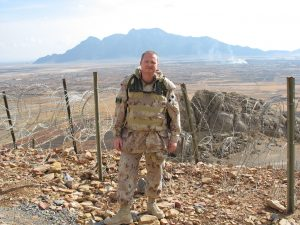 Maj. Gary Johnston in Afghanistan
