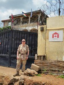 Maj. Gary Johnston in South Sudan
