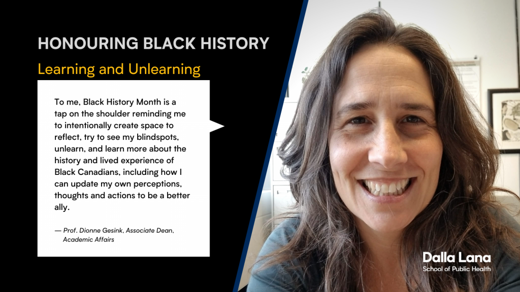A statement from Dionne Gesink on Black History Month