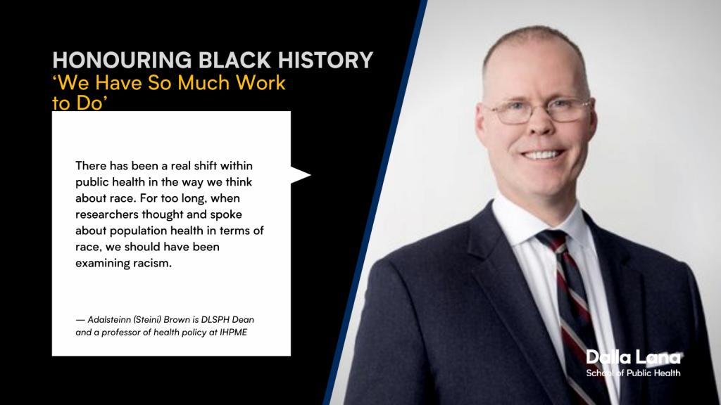 Dean Steini Brown's statement on Black History Month