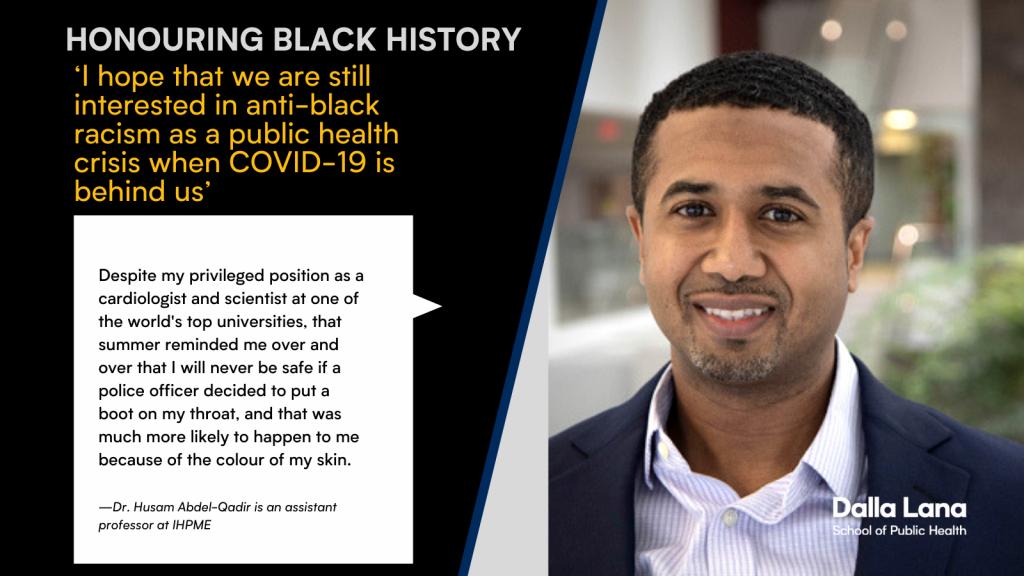 Husam Abdel-Qadir statement in Black History Month