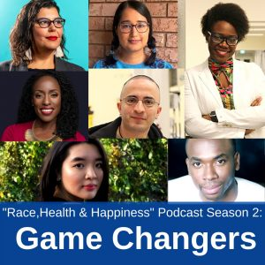 Season 2 promo of the Race Health and Happiness podcast